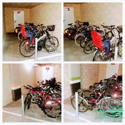 puedes dejar una bicicleta.
