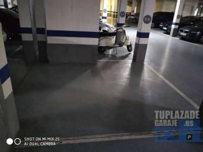 buen acceso a la plaza de garaje